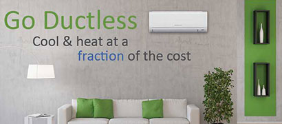 Ductless air conditioners or heat pumps